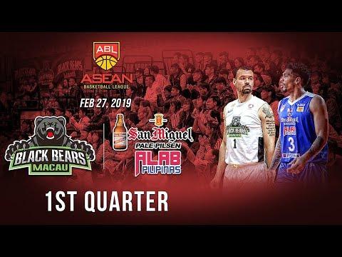 Macau Black Bears VS San Miguel Alab Pilipinas| 1st Quarter| Feb 27 2019| ABL 2018-2019