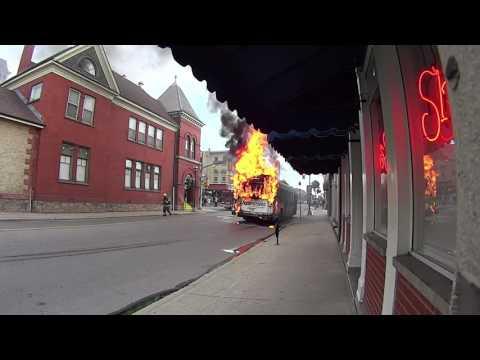 GRT Bus Fire (July 9, 2016)
