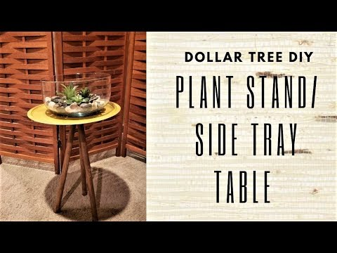 DOLLAR TREE PLANT STAND DIY  I  SIDE TRAY TABLE