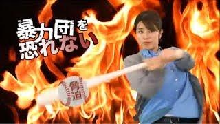 暴力団排除活動広報用コマーシャル かっとばす稲村亜美篇 30sec