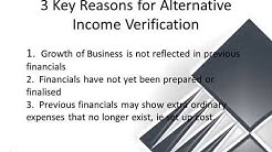 Small Business Owners - Alternative Income Verification Options