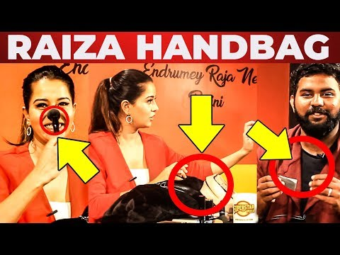 Raiza Wilson Handbag Secrets Revealed   Vj Ashiq   What's Inside the HANDBAG