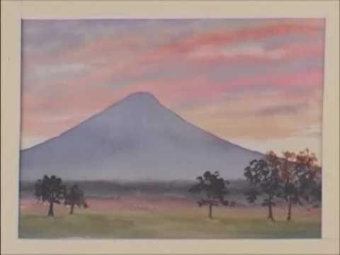 Watercolor Mountains Lesson Mount Fuji Youtube
