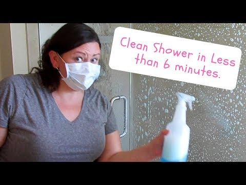 Hack for Soap Scum Removal: Clean your shower and tub in less than 6 minutes