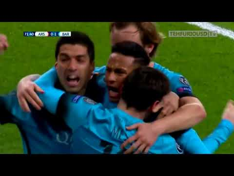 Arsenal Vs FC Barcelona 0 2 Goals And Highlights With English Commentary UCL 2015 16 HD 720p