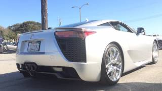 Lexus LFA hard revving at Cars and Coffee San Francisco