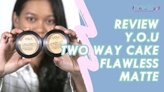 Review dan Swatch Y O U Flawless Matte Two Way Cake di Kulit Sawo Matang