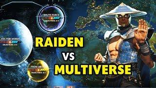 "Injustice 2 PC. Raiden Gameplay. Raiden vs. Multiverse ""Bite me"". Super Fun Battles!"
