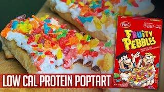 Fruity Pebbles High PROTEIN POPTART RECIPE VIDEO!   Fat Loss Recipe!