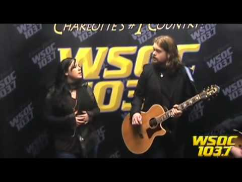 103.7 WSOC's Studio Performance: Caitlin & Will singing
