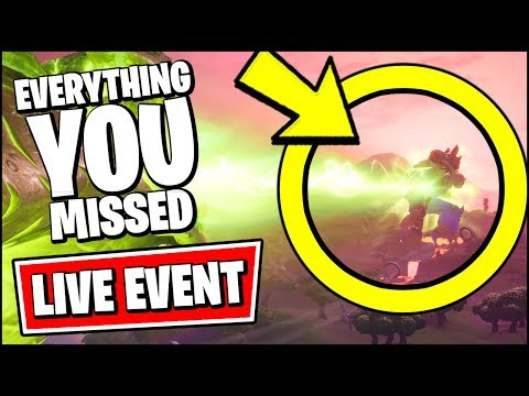 FORTNITE ROBOT VS MONSTER EVENT (EVERYTHING YOU MISSED)  SEASON 9 LIVE EVENT *RIGHT NOW*