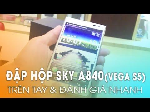 Trên Tay Sky Vega S5 - Camera 13mpx,Màn 5inch Viền Siêu Mỏng