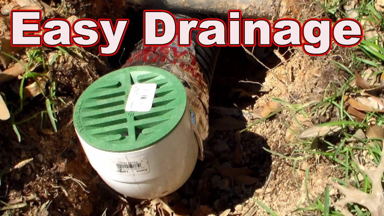How To Install French Drain, The Downspout Drain   YouTube