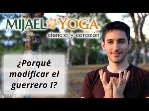 Guerrero 1 (Virabhadrasana1): Modificación en Viniyoga