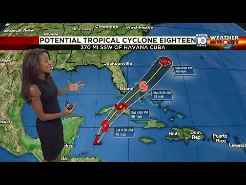Tropical system moves toward Florida Straits