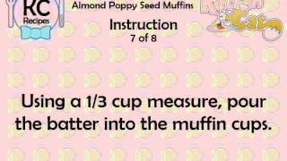Almond Poppy Seed Muffins - Kitchen Cat