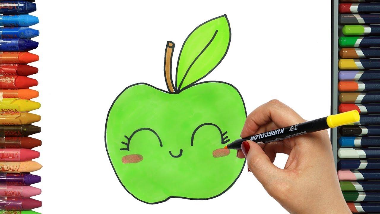كيفية رسم تفاحة للمبتدئين