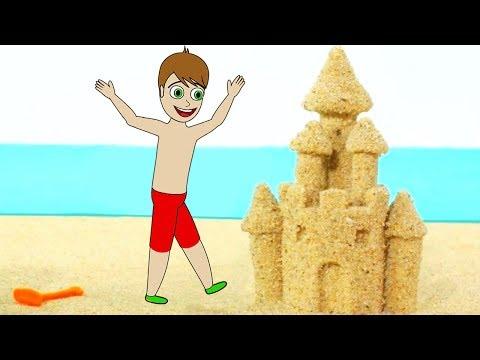 ELSA's Mega People Sand Castle Finger Family Song Nursery Rhymes