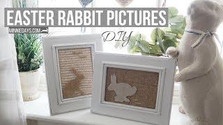 DIY Easter Rabbit Pictures