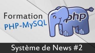 Système de news partie 2 - Formation PHP MySQL
