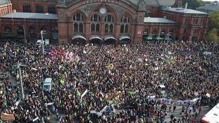 Mehr als 30000 Demonstranten bei quot;Fridays for Futurequot;