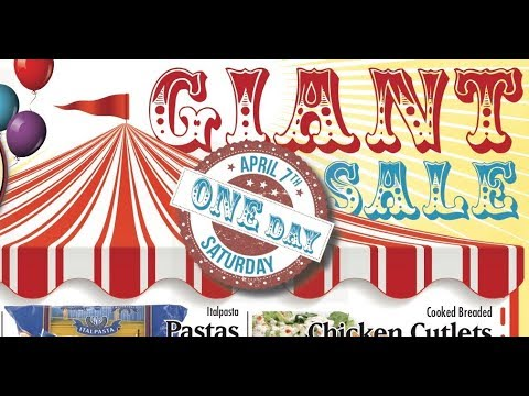 Saturday April 7th - GIANT One Day Sale at Country Grocer SSI (v#3)