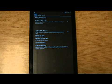 How to Factory Reset an Azpen Tablet - YouTube