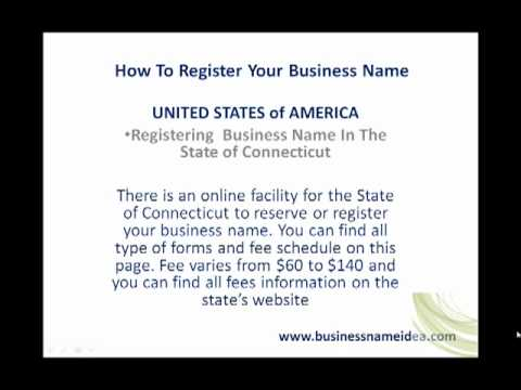 How to register business name in Connecticut or Connecticut business name registration