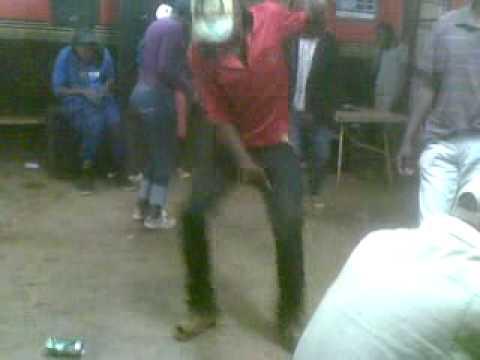 A guy dancing after work:at tshifhiwa restuarant,phiphidi,,dj dada man