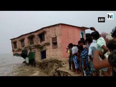 Watch: Bihar School washed away in Ganga river