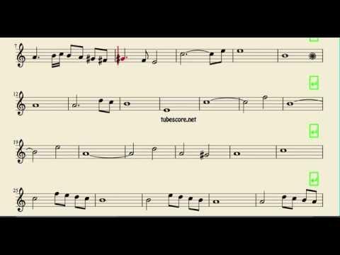 Ave María Caccini Partitura fácil de Saxofón Tenor Clarinete y Saxophone Soprano