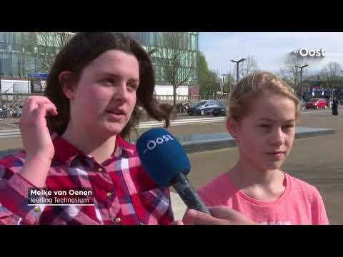 Leerlingen Technasium ontwerpen nieuw stationsplein voor Enschede