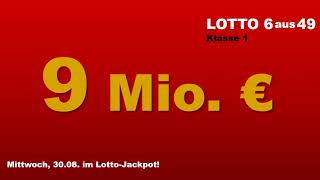 Lotto Mittwoch 30.08.2017: Heute 9 Millionen Euro im Jackpot