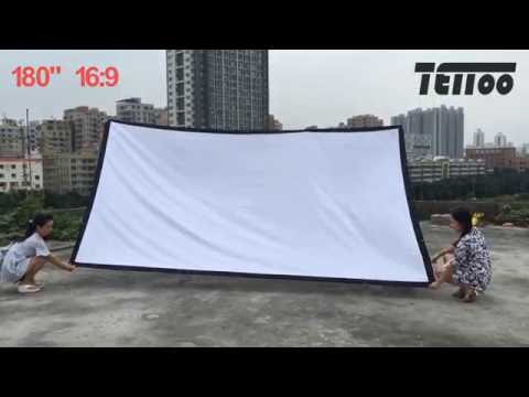 TEITOO SR2 Series White Canvas Fabric Portable & Foldable Projector Screen