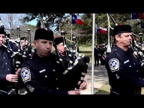 Bagpipes Texas Cemetery 2-12-2013 Kyle