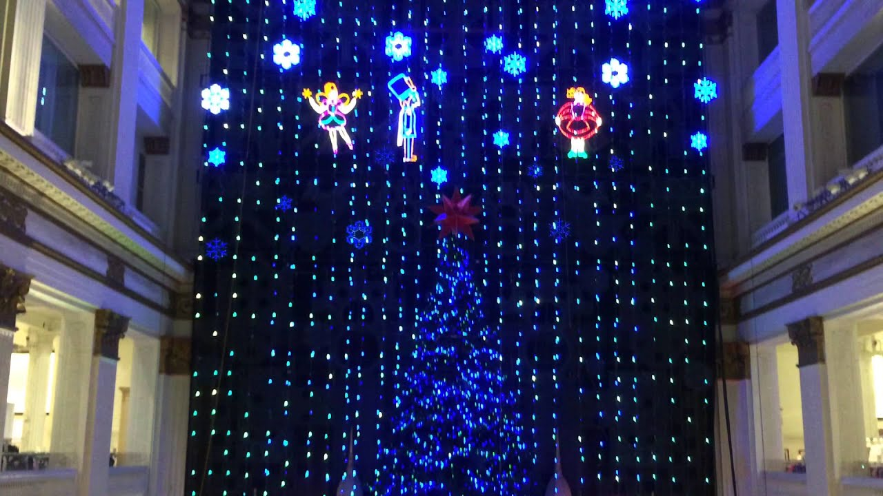 wannamaker macys philadelphia christmas light show 2015 part 1 wout organ