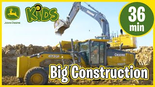 John Deere Kids | Real Big Construction Vehicles Working with Music & Song