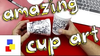 Repeat youtube video Amazing Cup Art