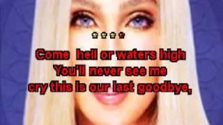 Karaoke Cher strong enough