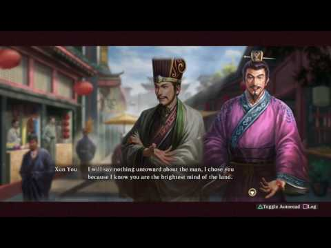 Xun Yu Scenario Intro - Romance of the Three Kingdoms XIII PUK