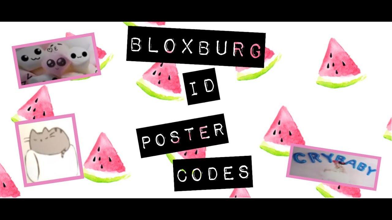 bloxburg id poster codes - videostraight com