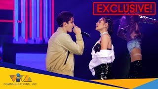 WATCH: Nadine Lustre's Fierce Dance Grooves while singing with James Reid at Miss Manila!