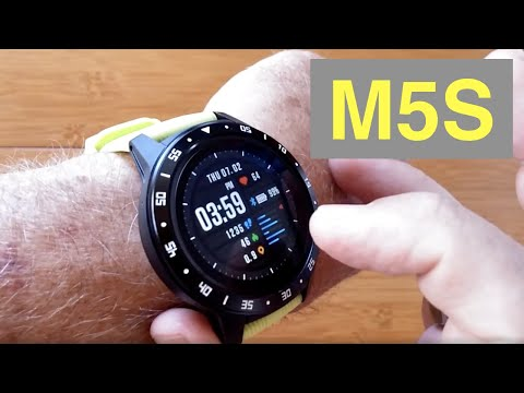 bakeey-m5s-gps,-sim/bluetooth-calls,-blood-pressure,-ip67-waterproof-smartwatch:-unboxing-&-1st-look