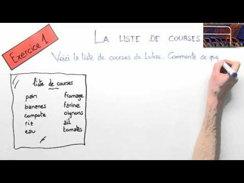 Der Teilungsartikel übungsvideo Französisch Grammatik