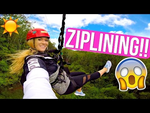 ZIPLINING IN HAWAII!!! AlishaMarieVlogs