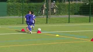 Taktik - Zweikampfschulung - 1 vs 1 (off./def.) - Gegner im Rücken - FC Concordia Basel U10
