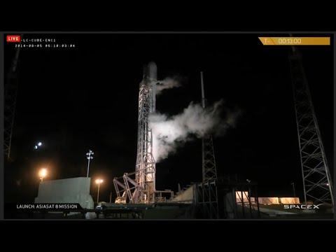 SpaceX Webcast - AsiaSat8 Falcon 9 Launch Success! August 5, 2014
