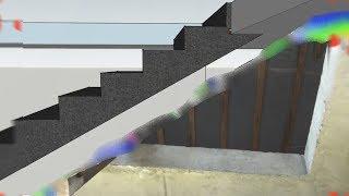 видео Крыльцо с бетонным перекрытием и лестницей