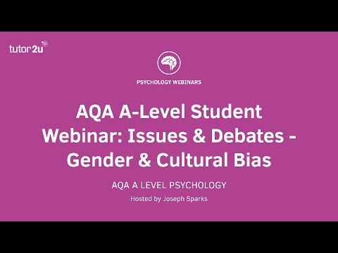 AQA Psychology Student Webinar: Gender Bias