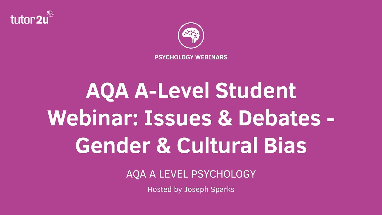 aqa psychology student webinar gender bias